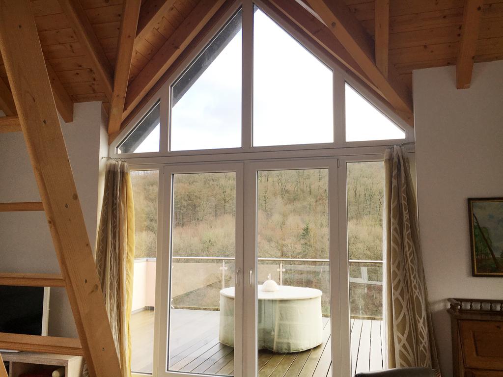 Spirituelle Begegnungsstätte Casa Smi Eifel - Blick auf Terrasse
